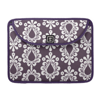 Purple Damask Rickshaw Sleeve for MacBook Pro