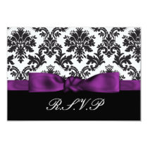 purple damask  rsvp standard 3.5 x 5 card
