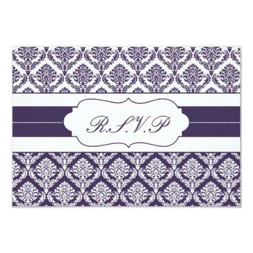purple damask   rsvp standard 3.5 x 5 card
