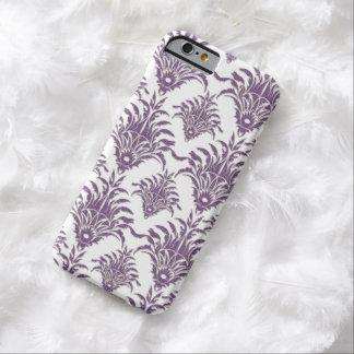 Purple Damask Simulated Glitter iPhone 6 Case