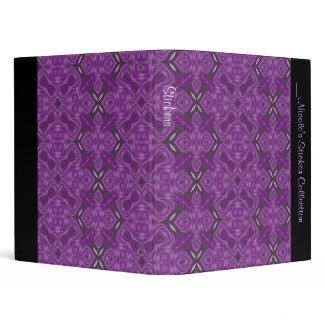 Purple Damask Sticker Binder binder