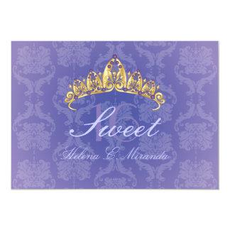 Purple Damask Sweet 16/ tiara/amethyst invitations