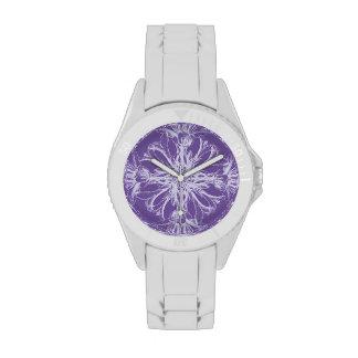 Purple Damask Vintage Floral Wristwatch