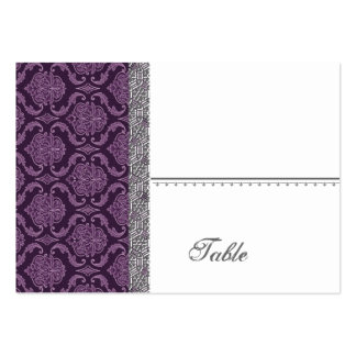 Purple Damask Wedding Set - Business Card