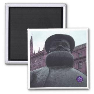 Purple Dan Square Magnet Magnet