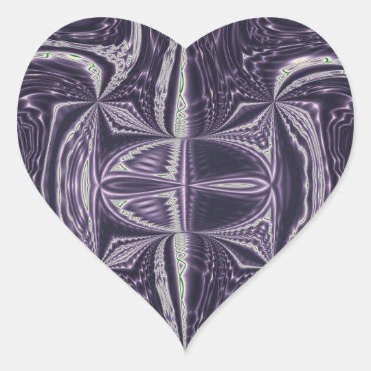 Purple Dance Heart Sticker