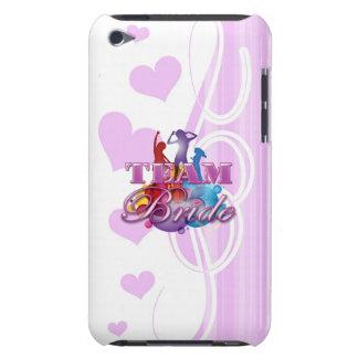 Purple dancing team bride bridesmaids bridal party iPod Case-Mate case