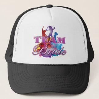 Purple dancing team bride bridesmaids bridal party trucker hat