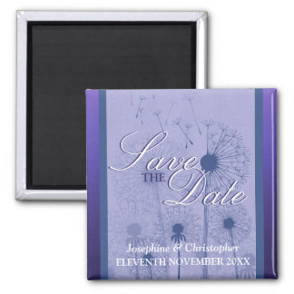 Purple Dandelion Save the Date Magnet