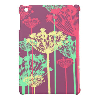 Purple dandelion wish flowers girly floral pattern iPad mini covers