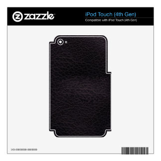 Purple dark elegant stylish & chic real leather iPod touch 4G decals
