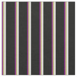 [ Thumbnail: Purple, Dark Khaki, Light Yellow & Black Colored Fabric ]
