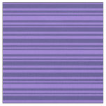 [ Thumbnail: Purple & Dark Slate Blue Colored Lines Fabric ]