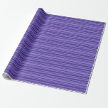 [ Thumbnail: Purple & Dark Slate Blue Colored Lines Wrapping Paper ]