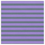 [ Thumbnail: Purple & Dark Slate Gray Colored Stripes Pattern Fabric ]