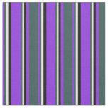 [ Thumbnail: Purple, Dark Slate Gray, White & Black Colored Fabric ]