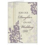 Purple Daughter Wedding Congratulations Card