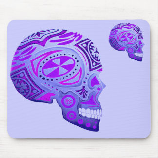 Purple Day of the Dead Skull Mouse Pad