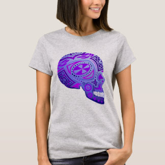 Purple Day of the Dead Skull T-Shirt