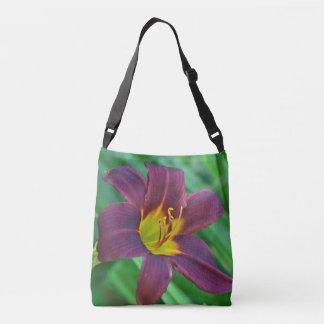 Purple Daylily Crossbody Bag