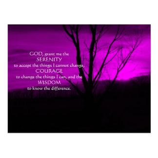 Purple December Night in Pa Serenity Prayer Postca Postcard