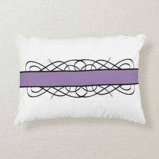 Purple Deco Flourish Accent Pillow
