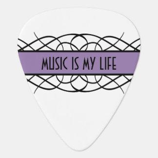 Purple Deco Flourish Guitar Pick