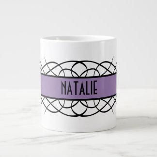 Purple Deco Flourish Mug