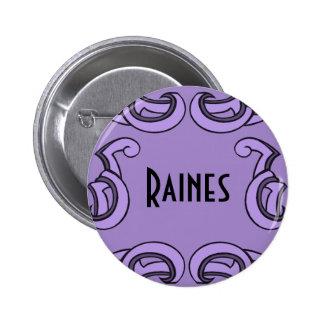 Purple Deco Name Tag Button