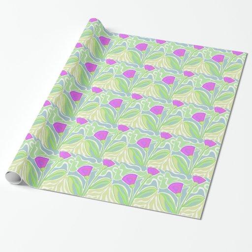 Purple decorative design wrapping paper zazzle