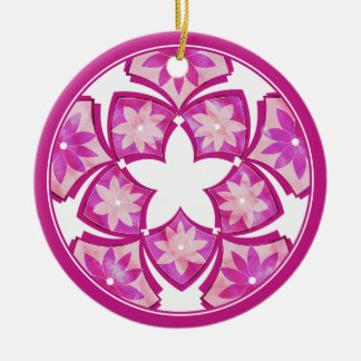 Purple Decorative Floral Tiles Ornament