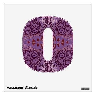 Purple Decorative Pattern Wall Decal
