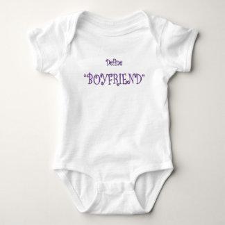Purple Define Boyfriend Cute Text T-shirt