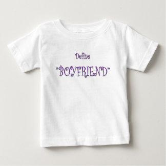 Purple Define Boyfriend Cute Text T Shirt