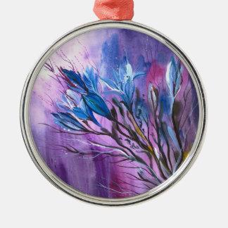 Purple Delight Metal Ornament