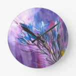 Purple Delight Round Clock