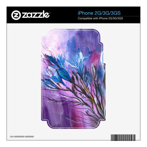 Purple Delight iPhone 2G Decal