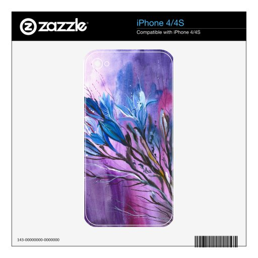 Purple Delight Decals For iPhone 4