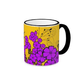 purple delights ringer coffee mug