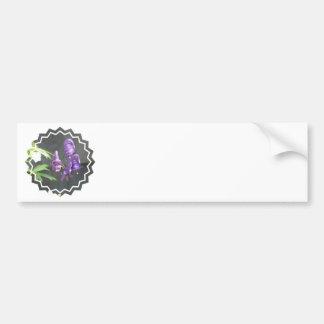 Purple Delphinium Bumper Sticker