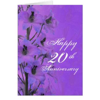 Purple delphinium to the couple anniversary card