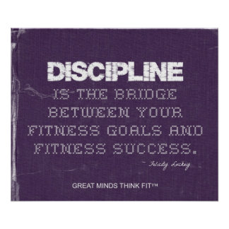 Purple Denim Fitness Poster