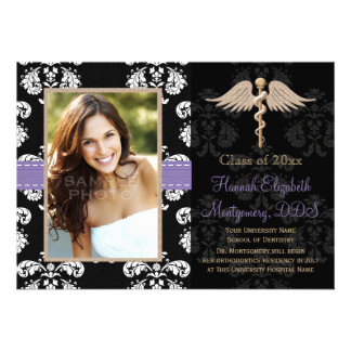 Purple Dental School Graduation Announcements