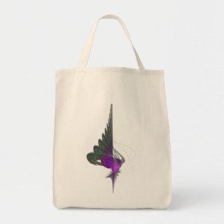 Purple Dervish Abstract Art Canvas Bag