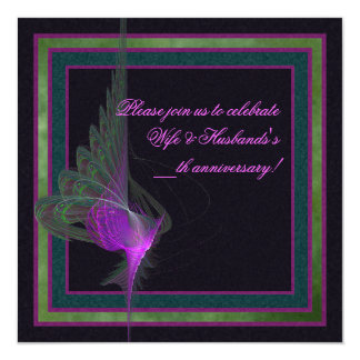 Purple Dervish Abstract Art Card