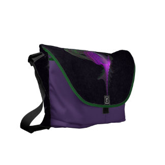 Purple Dervish Abstract Art Courier Bags