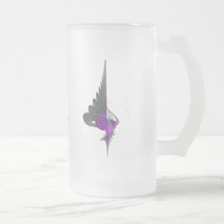 Purple Dervish Abstract Art 16 Oz Frosted Glass Beer Mug