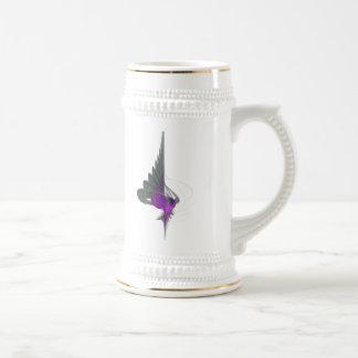 Purple Dervish Abstract Art 18 Oz Beer Stein