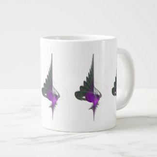Purple Dervish Abstract Art 20 Oz Large Ceramic Coffee Mug