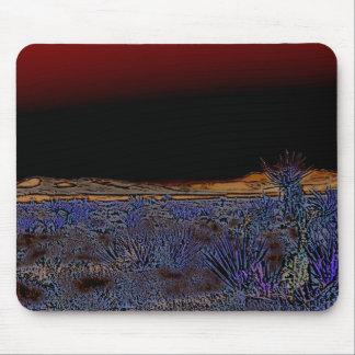 Purple Desert At Night Mouse Pad